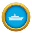 ship icon blue isolated vector image vector image