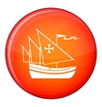 Ship of Columbus icon flat style vector image vector image