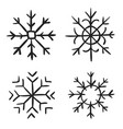 snowflake doodle graphic hand-drawn collection of vector image vector image