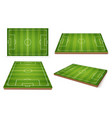 soccer field different positions vector image vector image