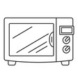 steel microwave icon outline style vector image vector image