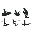 summer sport set silhouettes vector image