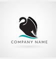 swan logo sign emblem-08 vector image vector image