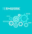 teamwork graphic for business concept vector image