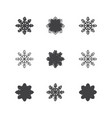 this is a set of of snowflakes vector image vector image