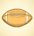 US Football Ball vector image vector image