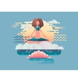 Woman meditation design flat vector image