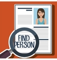 woman search find person vector image