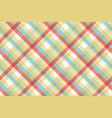 yellow plaid tartan seamless pattern vector image vector image
