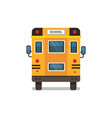 yellow school bus rear view pupils transport vector image vector image