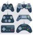 Set gamepad icons vector image