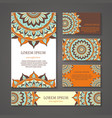 Banners and business cards with arabic or indian vector image