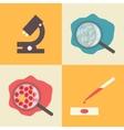 Laboratory icons set medical examination medical vector image