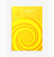 3d fluid colorful liquid gradients background vector image