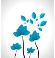 Abstract Impossible Flowers vector image
