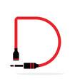 alphabet d letter logo formed jack cable vector image vector image