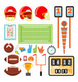 american football icons set american vector image