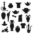 ancient amphora vase torch and teapot vector image