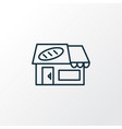 bakery icon line symbol premium quality isolated vector image
