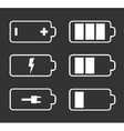 Battery flat icons vector image vector image