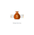 Big sack with money financial investment safety vector image vector image