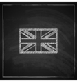 british union jack flag with chalkboard texture vector image