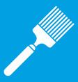 brush icon white vector image
