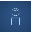 Businessman line icon vector image vector image