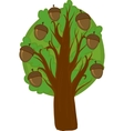 Cartoon oak Tree Isolated vector image
