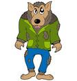 cartoon werewolf vector image vector image