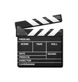 clapperboard for movie vintage cinema vector image