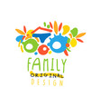 colorful abstract family flat logo vector image vector image