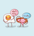 cute food cartoon joke vector image