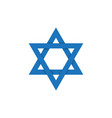 david star on israel flag symbol vector image