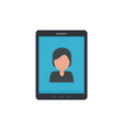 device video call icon flat style vector image vector image