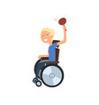 disabled man playing table tennis rehabilitation vector image