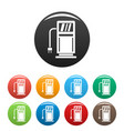 electric recharge station icons set color vector image vector image