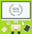 Flat design concept web Online Education trendy vector image vector image