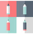 Flat pencil icon set vector image