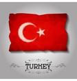 geometric polygonal Turkey flag vector image vector image