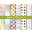 Geometric rainbow and gray seamless pattern set vector image