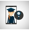girl app education online search vector image vector image
