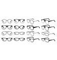 glasses silhouette cool eyeglasses fashion black vector image vector image