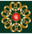 Gold brooch vector image