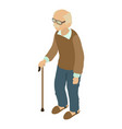 grandad icon isometric 3d style vector image vector image