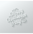 halloween party cut paper lettering background vector image