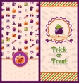 Halloween Postcards Vertical Banners vector image