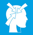 head with arrows icon white