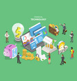isometric flat concept fintech vector image