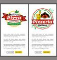 italian pizza restaurant web vector image vector image